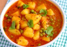 Indian main course- aloo matar Royalty Free Stock Photography