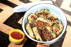 Aloo Methi Tikki, Fenugreek leaves potatoes Cutlets royalty free stock images