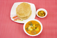 Aloo Puri with Aachar Stock Images