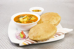 Aloo Puri with Aachar Royalty Free Stock Photo