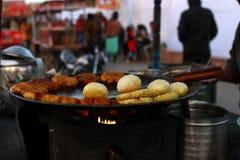 Aloo tikki chaat, Indian Street food Stock Photography