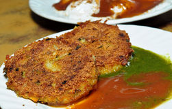 Aloo tikki chat Royalty Free Stock Photos