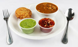 Aloo tikki combo Stock Photos