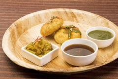 Aloo tikki or fried potato balls or chaat Royalty Free Stock Image