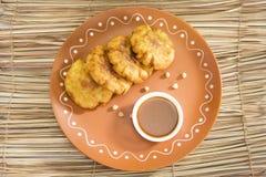 Aloo Tikki o Fried Potato Balls o Chaat Fotografia Stock Libera da Diritti