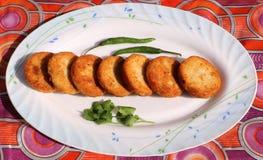 Aloo Tikki o Fried Potato Patties Immagini Stock