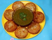 Aloo Tikki o Fried Potato Patties Fotografia Stock Libera da Diritti