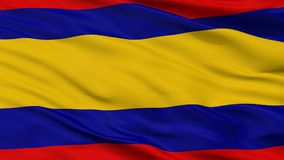 Alor Setar City Flag, Maleisië, Kedah-Staat, Close-upmening stock fotografie