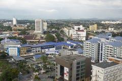 ALOR SETAR, MALAISIE, LE 9 JANVIER 2018 : Paysages urbains de vue aérienne de ville d'Alor Setar situés à la Malaisie péninsulair Image libre de droits