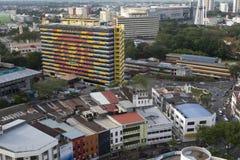 ALOR SETAR, MALEISIË, 9 JANUARI 2018: Luchtdiemeningscityscapes van Alor Setar-stad in noordelijk Peninsulair Maleisië wordt geve royalty-vrije stock foto