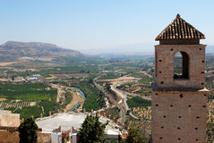 Alora castle and countryside. Stock Photo