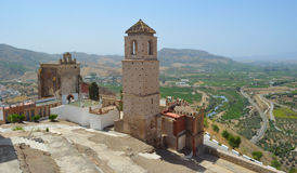 Alora castle and surrounding countryside. Stock Photo