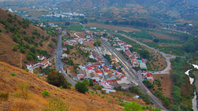 Alora Station Town. View of Alora Station town from Arabic Castle Hill, Andalucia Royalty Free Stock Photos