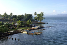 Alotau, bahía de Milne, Papúa Nueva Guinea Fotos de archivo