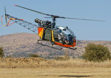 Alouette II at Nyoka ridge from side Stock Photo