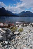 Alouette Lake Panorama. View from the camping spot on Alouette Lake - Vancouver-BC. June 2013 Stock Photos