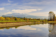 Alouette River in an Autumn morning Royalty Free Stock Photography