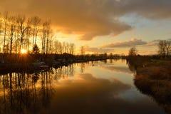 Alouette River, Pitt Meadows Royalty Free Stock Photos