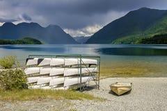 Alouettemeer in het Gouden Oren Provinciale Park, Britse Columb Stock Afbeeldingen