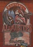 Alouettesmuurschildering Stock Foto's