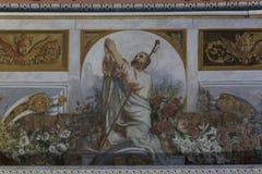Aloysius Church MANGALORE: 3 ottobre 2011: Pitture sul soffitto e sulle pareti di Aloysius Church a Mangalore Fotografia Stock