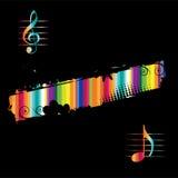 μαύρη μουσική σχεδίου αν&alp Στοκ φωτογραφία με δικαίωμα ελεύθερης χρήσης