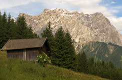 Alp with alp hut, Tyrol, Austria Royalty Free Stock Photography