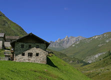 Alp in Austrian Dolomites Royalty Free Stock Image