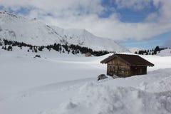 Alp Flix nell'inverno Fotografia Stock Libera da Diritti