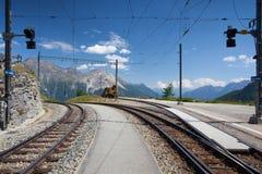 Alp Grum railway station, Switzerland Stock Images