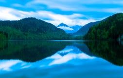 Alp jezioro w Niemcy Obraz Stock