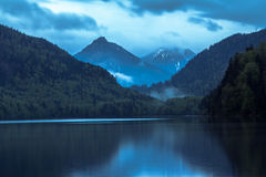 Alp lake in Germany Royalty Free Stock Photography