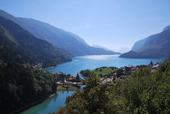 Alp lake in Italy royalty free stock image