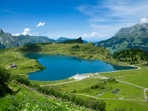 Alp lake in Switzerland Stock Photos
