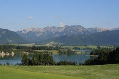 Alp Lakes i Tyskland, år 2009 Arkivfoton