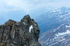 Alp Mountain rock view Stock Photography