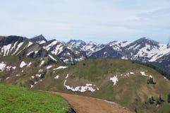 Alp Mountain Snow royalty-vrije stock afbeelding