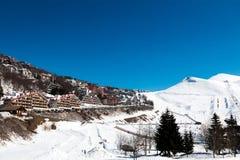 Alp Mountain Village Fotografie Stock Libere da Diritti