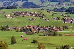 Alp Mountain Village Stock Photography