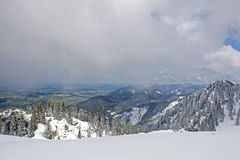 Alp mountains in Bavaria Stock Photo
