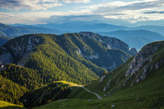 Alp Mountains de surpresa Foto de Stock Royalty Free