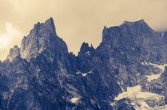 Alp Mountains nuvoloso Fotografie Stock