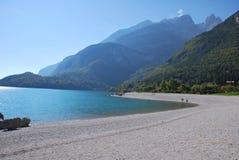Alp See in Italien Lizenzfreies Stockbild