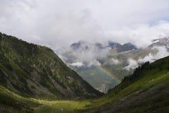 Alp Tirol Austria Nature Scenic-Regenbogen Lizenzfreie Stockfotografie