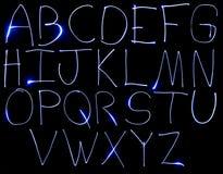 Alpabet maiuscolo al neon Immagine Stock