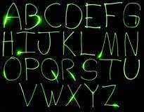 Alpabet maiuscolo al neon Fotografie Stock Libere da Diritti