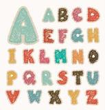 Alpabet marque avec des lettres le rétro dessin Photographie stock libre de droits