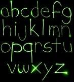 Alpabet minuscolo al neon Fotografia Stock Libera da Diritti
