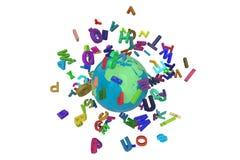 Alpabet segna il globo con lettere immagini stock libere da diritti
