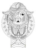 Alpaca adult coloring page Stock Photo